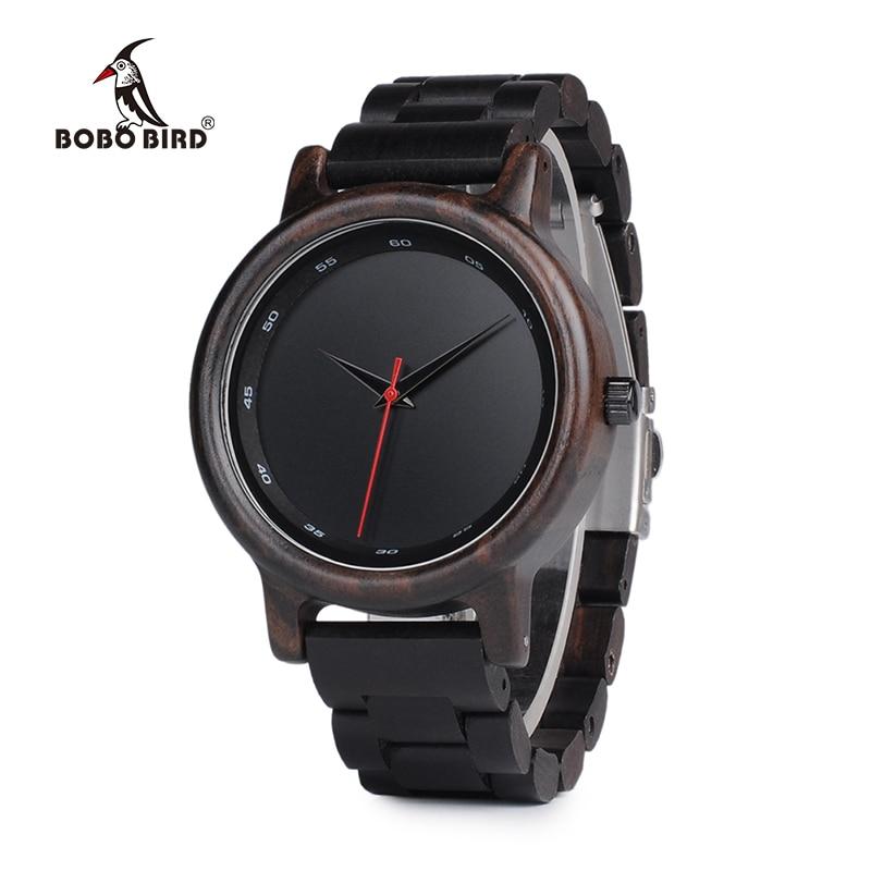 df08f3cfe2b BOBO De Madeira PÁSSARO Relógio Homens Relogio masculino Top Marca De Luxo  Mens Relógios de Quartzo