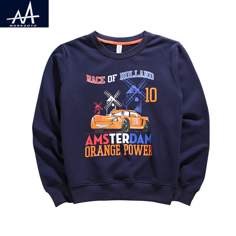 Spring Boys Hoodies Sweatshirt Child Outfit Sweater Kids Round Neck Sweatshirt Children Hoodies Printed Sweatshirt Boy Age 9-12Y