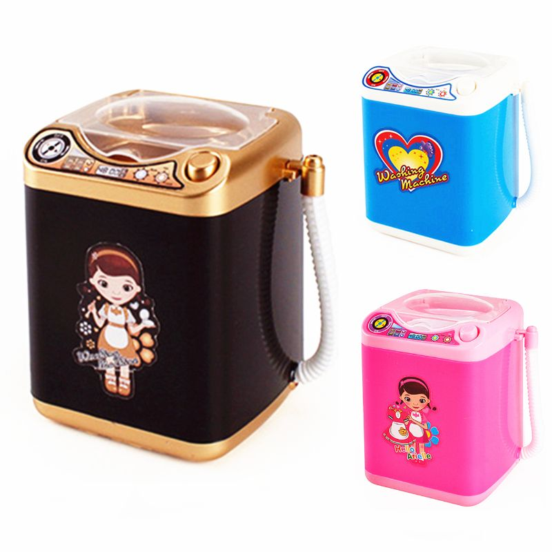 ELECTRIC MAKEUP BRUSH CLEANER SPINNER MACHINE Electronic Mini Washing Machine Shape Automatic Makeup Brush Cleaner Dries Deep in Housekeeping Toys from Toys Hobbies