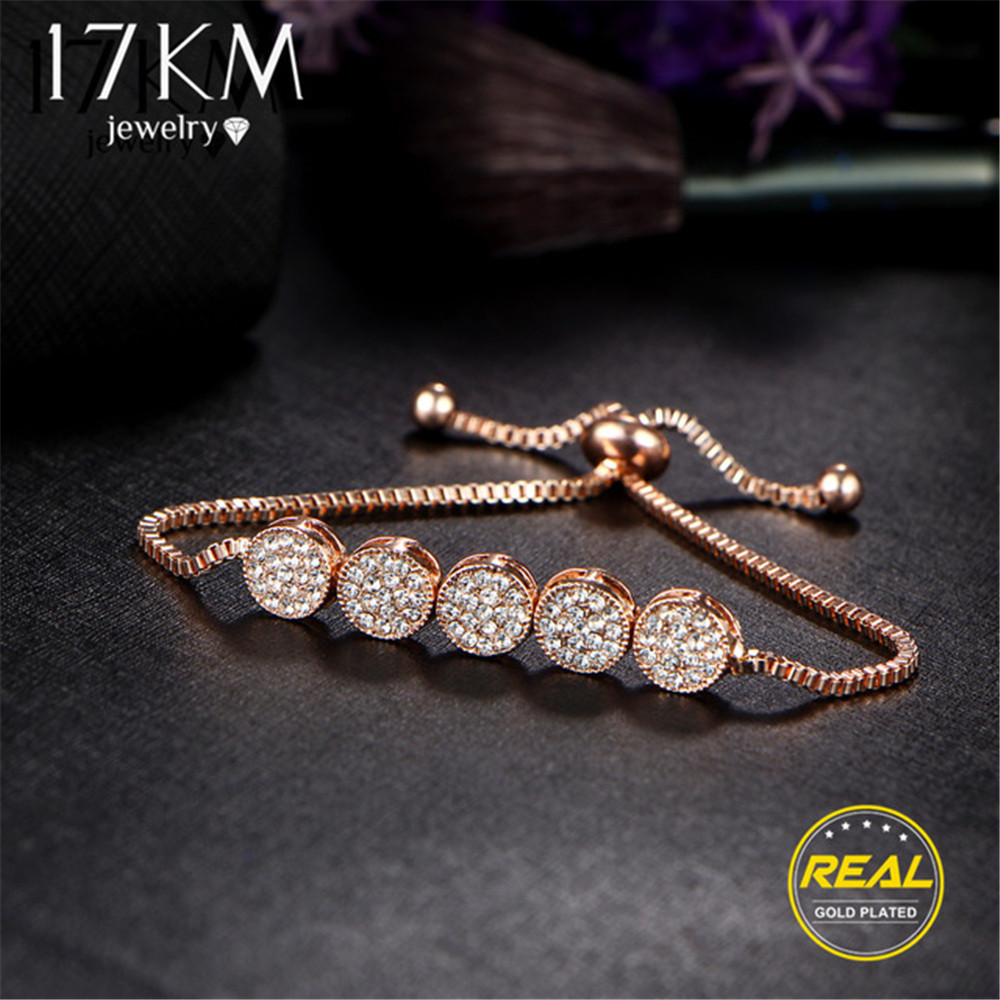17KM Adjustable Bracelets Jewelry Charm Wedding Party Friend Femme Women Gift New-Fashion title=