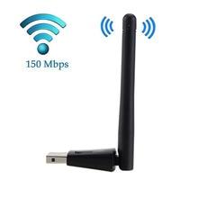Новый Беспроводной WiFi адаптер 2db Wi-Fi Телевизионные антенны 150 Мбит/с WLAN сетевой карты Портативный USB Wi-Fi приемник Адаптеры для сим-карт em88