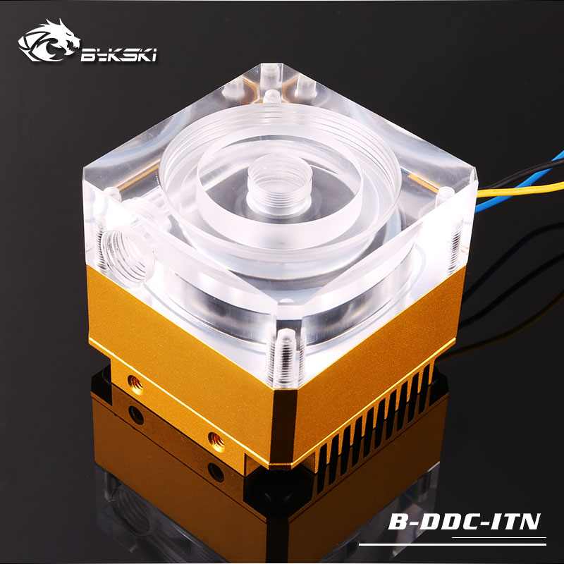 B-DDC-ITN BYKSKI new arrival pc watercooling DDC pump multi-color pump cover 12v large 4pin interface date feedback 62x62x58mm ice ddc 3 2 high raise large flow pump full metal 18w
