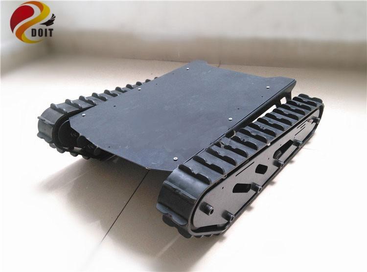 где купить DOIT Large Load T007 Robot Chassis with Rubber Tracks for DIY по лучшей цене