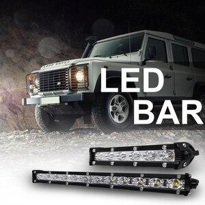 Image 5 - roadsun 7 13 inch Slim LED Light Bar Single Row 18W 36W 12V Daytime Running Light For SUV 4X4 Off Road LED Work Light Lamp