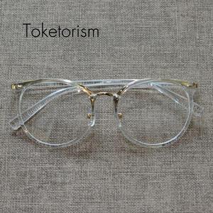 Toketorism gold glasses frames men women vintage eyeglasses 69a3509f52