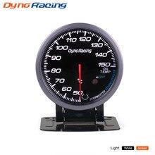 Dynoracing 60 мм черный датчик температуры масла для лица 50-150C Белый/янтарный светильник пиковая функция датчик температуры масла автомобильный измеритель с датчиком