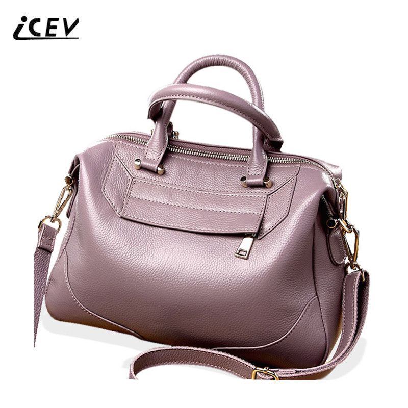 ICEV New Fashion Organizer Women Leather Handbags Designer Genuine Leather Handbags High Quality Ladies Totes Bolsa Feminina Sac icev new brands simple classic female cow leather designer handbags high quality genuine leather handbags women leather handbags