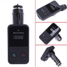 Transmisor FM Kit de Coche Bluetooth Modulador de FM Inalámbrico Radio Cargador de Control Remoto Pantalla LCD Reproductor de MP3 USB Compatible Con Tarjetas SD de