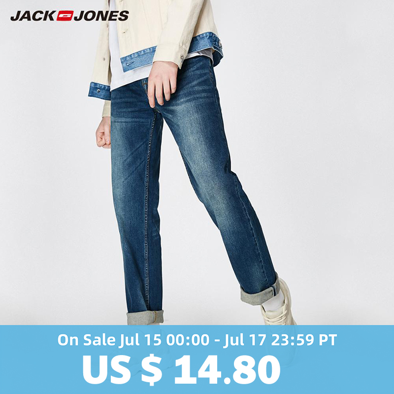 JackJones 2019 New Men's Stretch   Jeans   men Elastic Cotton Pants Loose Fit Denim Trousers Men's Brand Fashion Wear 219132584