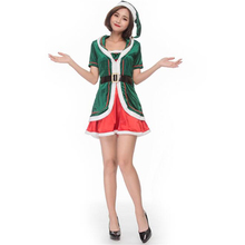 Cute Women Holiday Green Elf Costume Halloween Christmas Adult Honey Cosplay Clothing