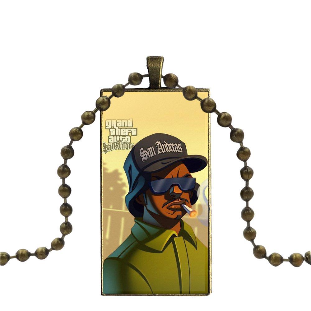 US $1 89 |Gta Grand Theft Auto 5 V San Andreas For Schoolgirl Maxi Glass  Cabochon Pendant Necklace Rectangle Fashion Necklace-in Pendant Necklaces