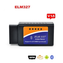 Universal Vehicle OBD OBD-II elm327 bluetooth obd2 diagnostic tool ELM 327 V2.1 Bluetooth Car Interface Scanner Works On Android