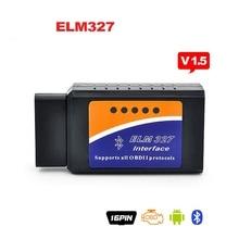 Универсальный Автомобиль OBD OBD-II elm327 bluetooth obd2 диагностический инструмент ELM 327 V2.1 Bluetooth Автомобилей Интерфейс Сканера Работает На Android