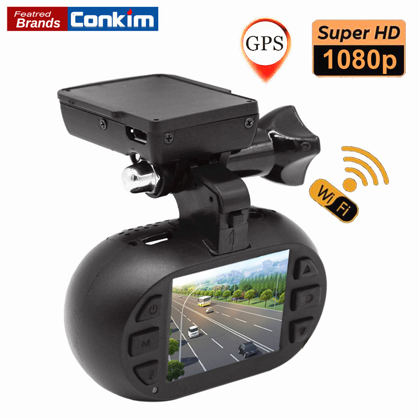 Conkim Novatek 96655 DVR Dash Cam Camera WIFI GPS Auto Registrar 1080P Full HD Video Recorder 24H Parking Guard Mini 0903 Nanoq conkim mini 0807 ambarella a7 dash camera 1080p full hd video recorder registrar car dvr gps parking guard record dual tf card