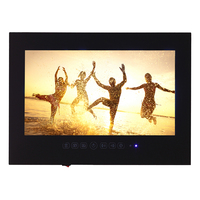 32 Inch Mirror Bathroom TV Waterproof LCD TV Black Color