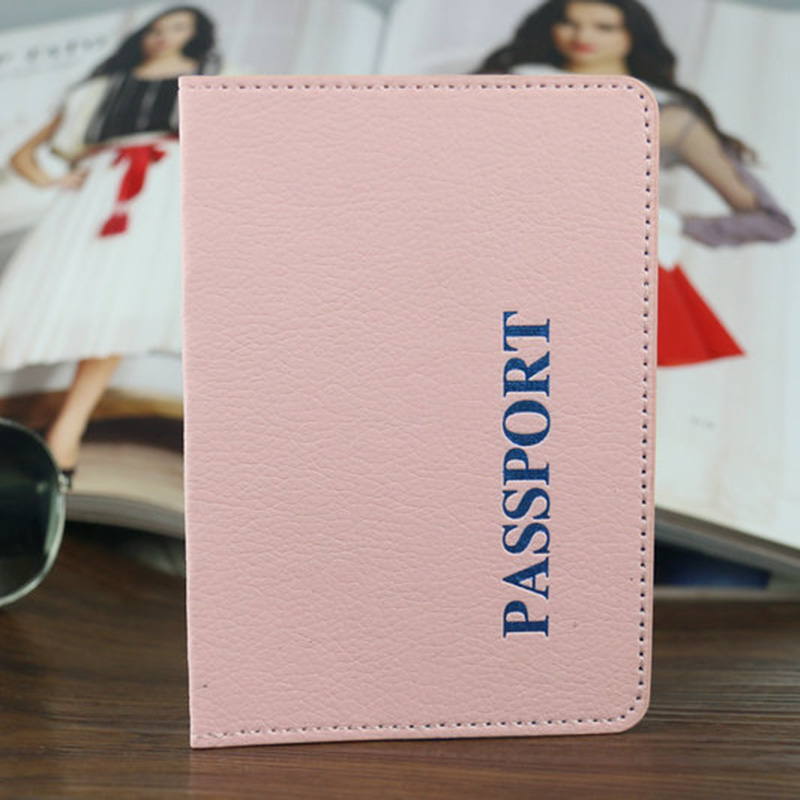 Fashion Solid Cute Passport Covers Pink Cover on the Passport Russia Travel passport wallet pasport protector все цены