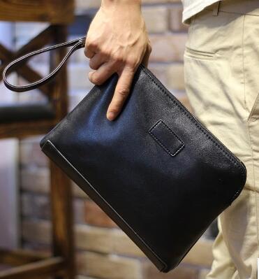 d6d943734 Los nuevos hombres bolsos de moda bolso de mano de cuero suave de negocios  atrapado hombres grandes del bolso de bolsas de sobres en Carteras de Bolsos  y ...