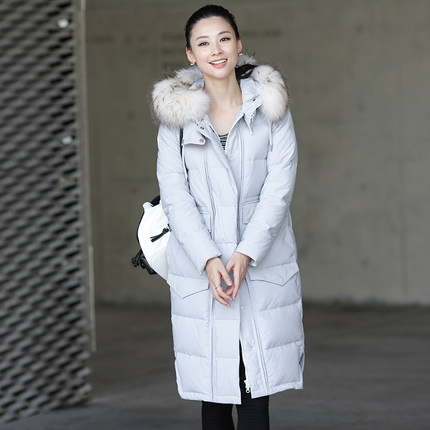 2016 new hot winter Thicken Warm woman Down jacket Coats Parkas Outerwear Hooded Raccoon Fur collar long plus size Straight цена 2016