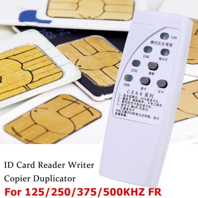 RFID ID Card Duplicator Programmer Reader Writer For 125/250/375/500KHz CR66 Copier Duplicator With Light Indicator