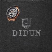 DIDUN Rosegold שעון קוורץ היוקרה מותג עליון גברים שעון הכרונוגרף שעוני יד שעון ספורט עמיד למים עמיד הלם 30 m
