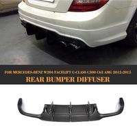 100 Brand New Carbon Fiber Rear Bumper Auto Car Bumper Lip Spoiler For Benz Fit W204