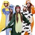 Home Clothes Pyjamas Women Child Cosplay Stitch Onesie Dinosaur Panda Bear Adult Unicorn Animal Pajamas One Piece