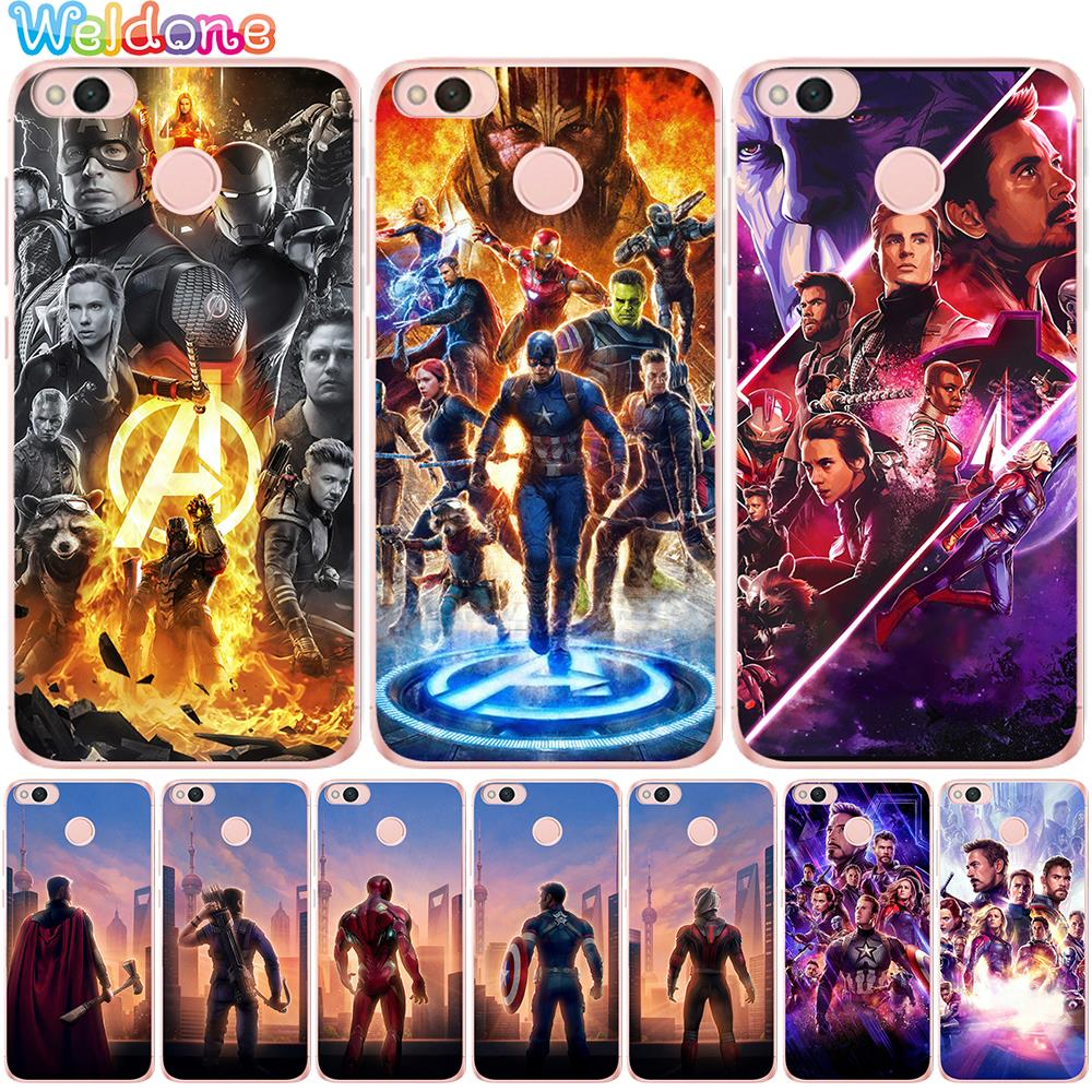 <font><b>Marvel</b></font> Avengers: Endgame Iron Man Phone <font><b>Case</b></font> For <font><b>Xiaomi</b></font> Mi5X Mi a1 a2 Mi6X Mi 8 9 <font><b>Redmi</b></font> Y1 Lite 6A 4A <font><b>Note</b></font> 4X 5A 6 7 Etui <font><b>cases</b></font> image