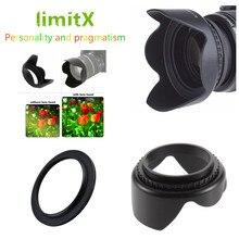 Flor Lens Hood para Sony RX10 Mark II 2/Panasonic Lumix DMC FZ1000 FZ1000 Câmera Digital/HC VX1 VX1 HC VXF1 VXF1 Camcorder