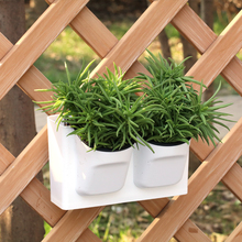 Two colours automatic absorption water plant wall plastic flower pot home and garden
