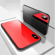 Luxury Glass Case For iPhone X Ultra Thin 9H Hardness Tempered Phone Shockproof Cover Cases