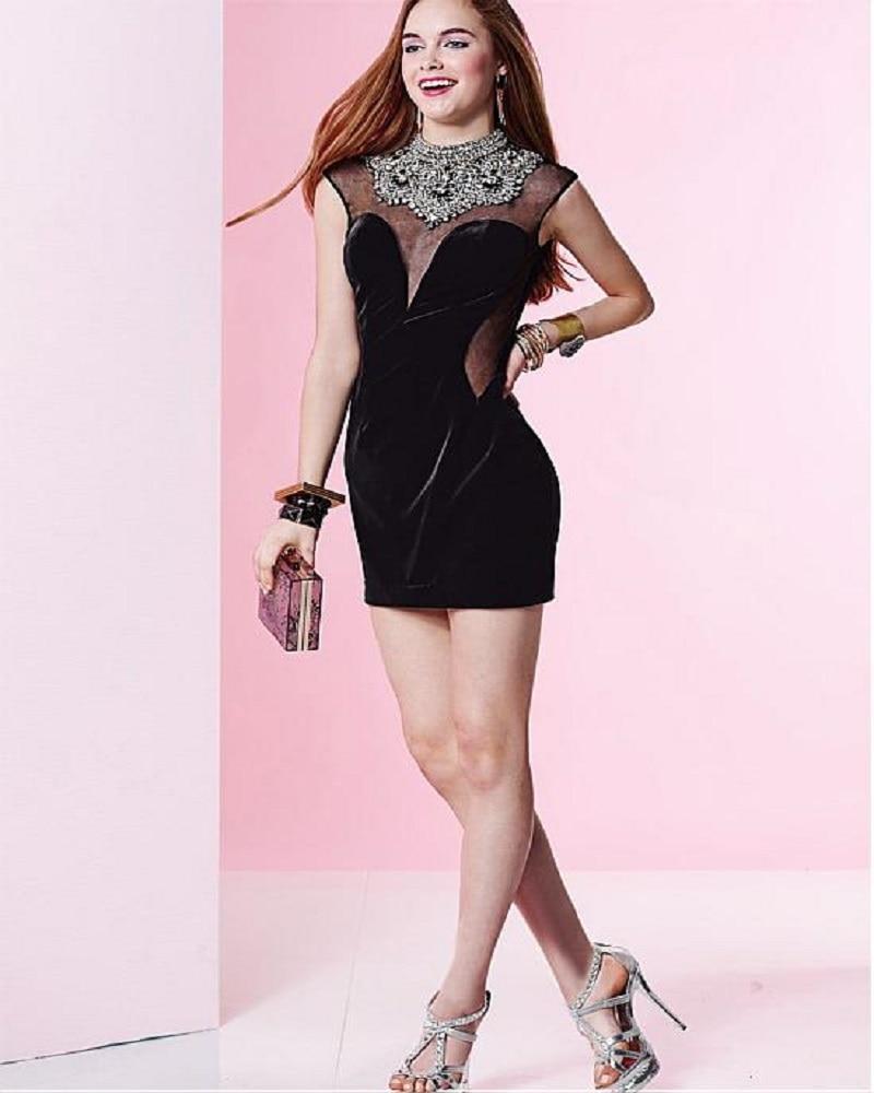 Perfecto Vestido De Cóctel Negro Peplum Colección de Imágenes ...