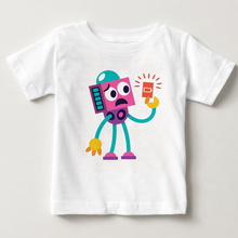 Boys New T shirt 2018 Summer Brand Children shirts Clothes Kids Tee Shirt 100% Cotton Robot Print Baby Boy Clothing