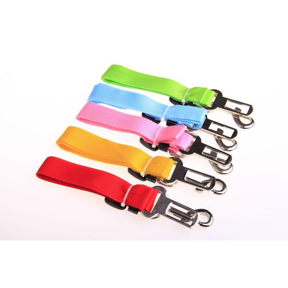 Dogs Adjustable Seat Belts Pet Cats Vehicle Safe Leashes Fashion Pets Product Puppy Travel Leashes In Car Solid Color Hot Sale