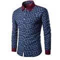 2016 Mens Business Shirt Camisas Top overshirts Faldas Tunik Men Blouse Slim Floral Shirt Pattern Custom Dress Shirt Camisa  HY