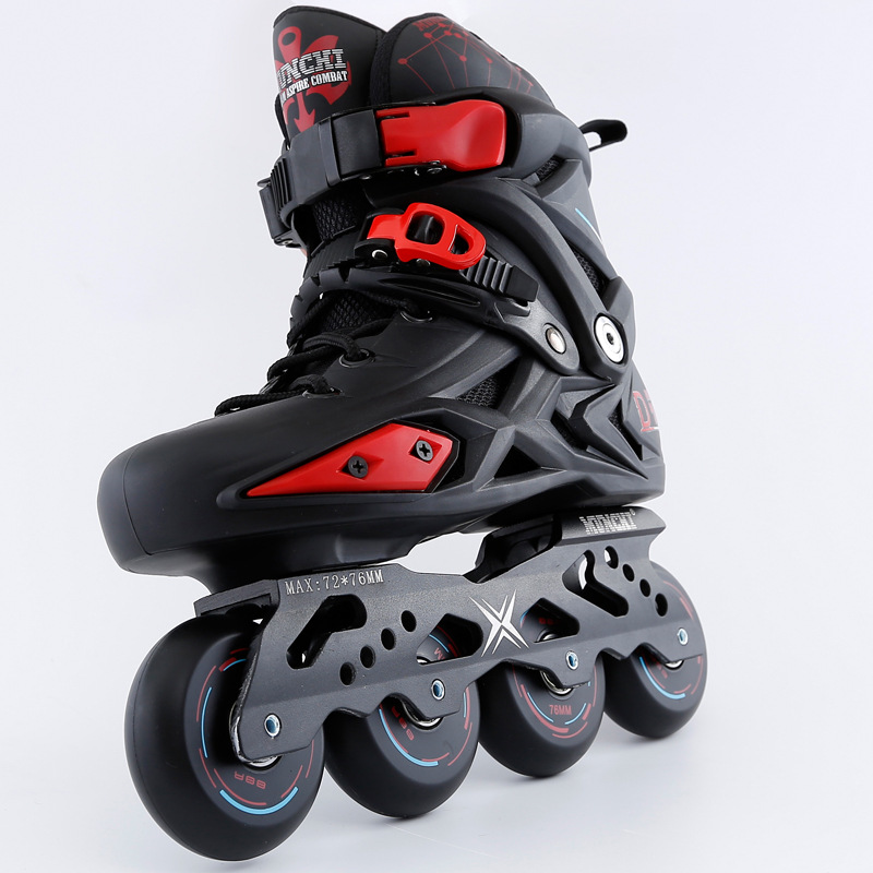 Or noir Adultes de Patin À Roues Alignées Professionnel Chaussures Patines Freestyle Extérieur Roller Chaussures Sneakers Chaussures de Sport - 3