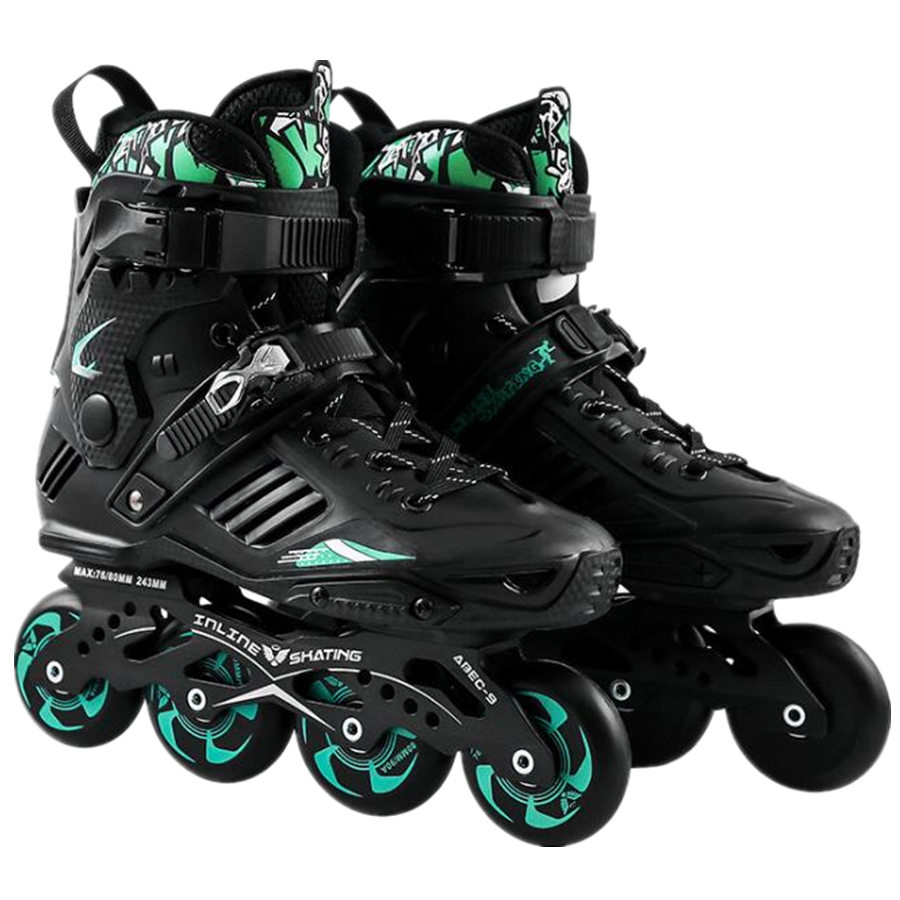 New Professional Smooth Sliding Inline Skates Adult Skating 4 Wheels Roller Skate Shoes Men Women Flat