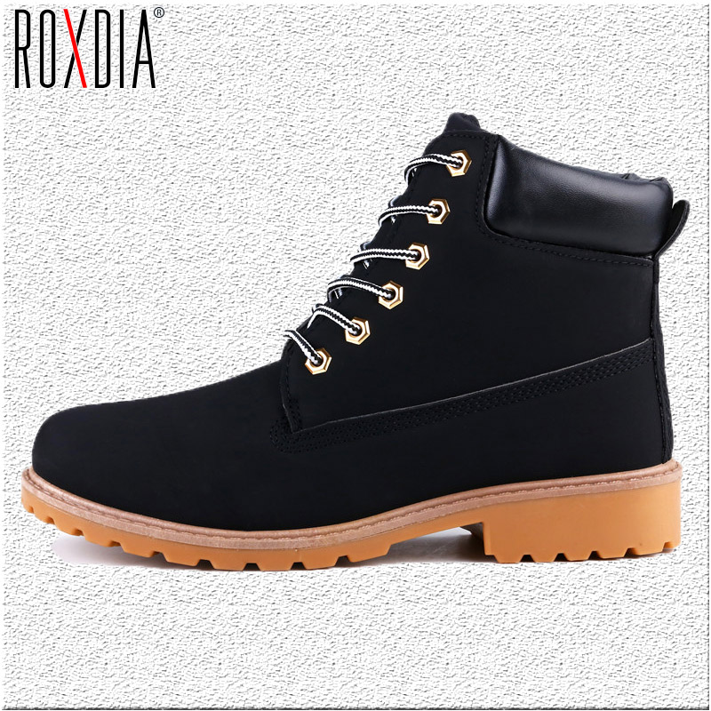 ROXDIA Autumn Winter Women Ankle Boots New Fashion Woman Snow Boots For Girls Ladies Work Shoes