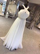 d5b4ea1b33c Свадебное платье 2018 летние белые шифоновые кружева Чехия Пляжные  Свадебные платья крест-накрест назад Свадебные платья vestido.