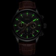 Relogio Masculino Männer Uhren LIGE Mode Wasserdicht Chronograph Top Marke Luxus Quarzuhr Männer Casual Leder Sport Uhr