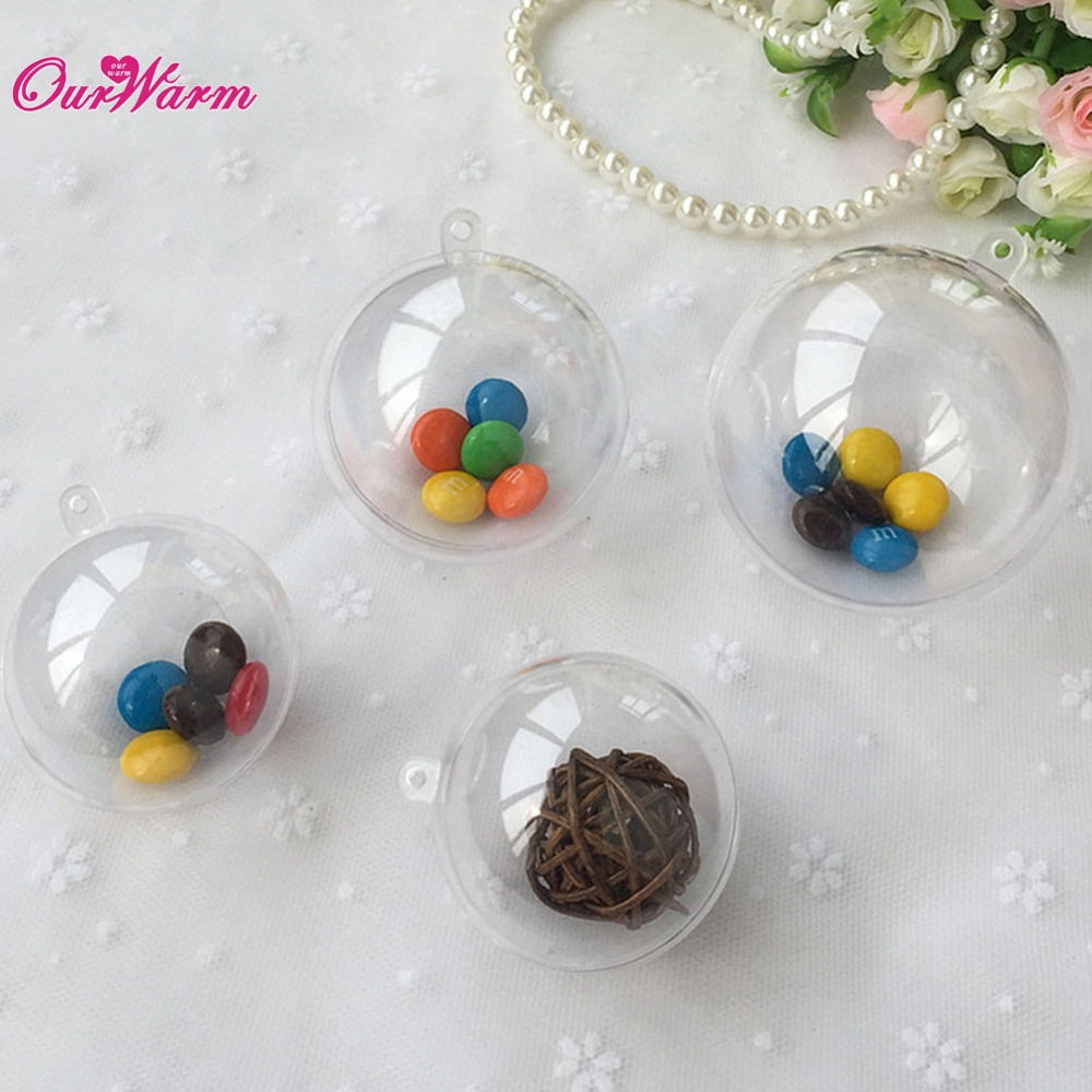 Christmas Decoration Wedding Gift : Gift Candy Box fillable ball baubles Decor wedding Xmas Christmas ...