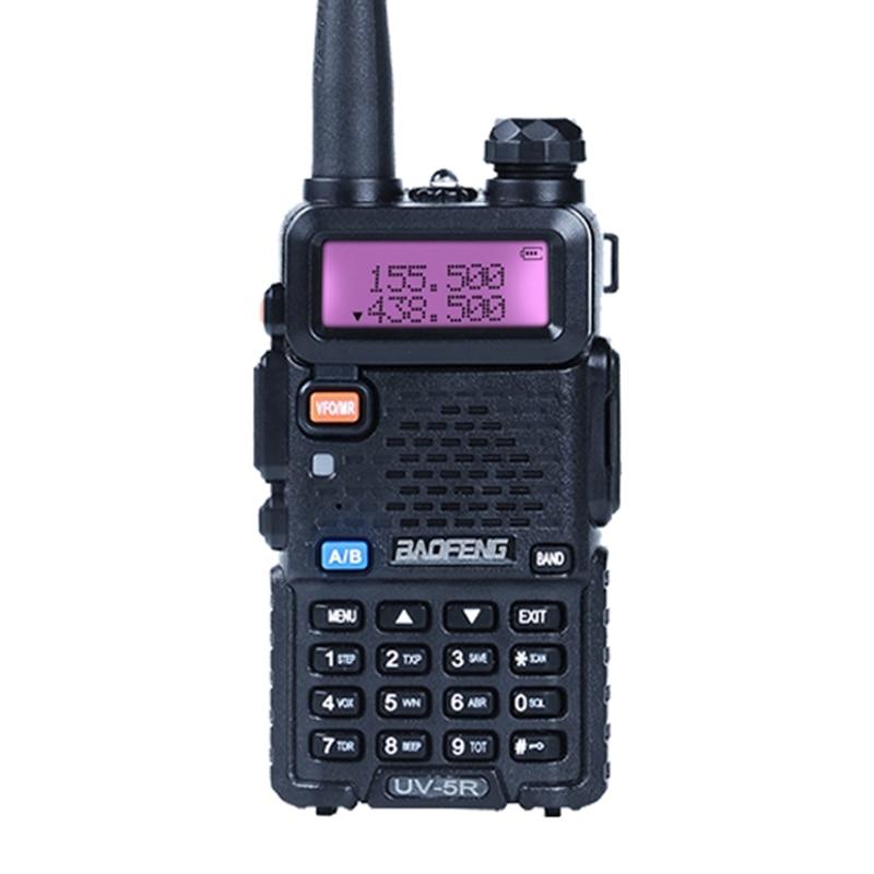 Baofeng UV-5R Portable uv5r Talkie Walkie à Deux Voies Radios128CH Double Bande VHF/UHF 136-174/400-520 MHz Jambon émetteur-récepteur Radio