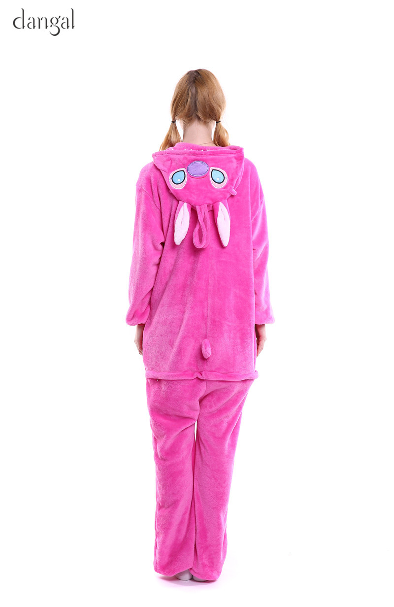 a42d340463 Lilo and Stitch Pajamas Blue Pink Stitch Kigurumi Stitch Onesie ...