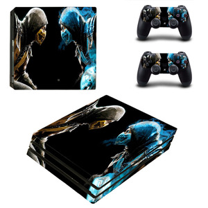 Image 2 - Game Mortal Kombat PS4 Pro Skin Sticker Decal for PlayStation 4 Console and 2 Controllers PS4 Pro Skin Sticker Vinyl