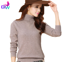 Real Cashmere Sweater 2015 Warm Winter Turtleneck Soft Comfortable Women Sweaters And Pullovers 13 Color