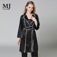 MaiJee Vintage Bathrobe Long Robes Women Robe Peignoir Silk Robe Dressing Gown Peignoir Bride Robe Silk Dress Pyjama Team Bride