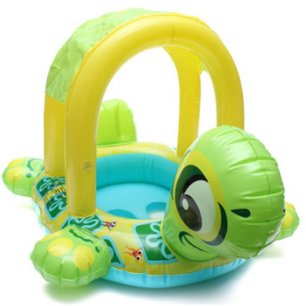 2018 Hot Sale Baby Swim Ring Outdoor Inflatable Baby Tortoise Float Seat Boat Ring Car Sunshade Swim Pool Water Toy!