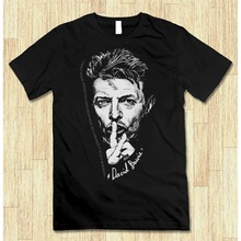 Funny Cotton T Shirts Office David Bowie Art O-Neck Short Sleeve Tee For Men