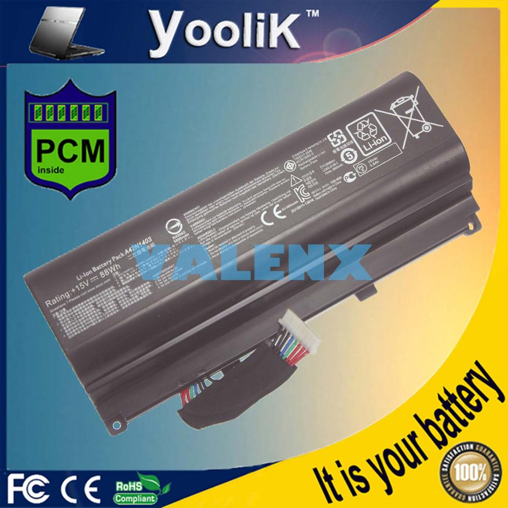 88WH NEW Battery A42N1403 forASUS ROG GFX71JY 17.3 GFX71JY4710 G751 G751J G751J-BHI7T25 Series A42N1403 A42LM93 0b110-002900 oem a42n1403 battery for asus rog g751 g751jt a42lm93 4icr19 66 2 gfx71jy g751jt ch71 g751j bhi7t25