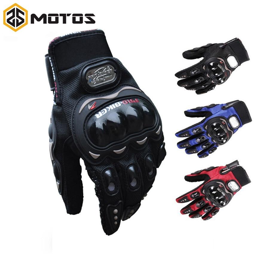 ZS MOTOS Pro Biker دراجة نارية قفازات كاملة فنجر فارس ركوب الدراجات البخارية الرياضية الدراجات قفاز قابل للغسل القفازات guantes