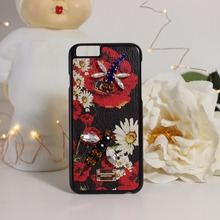 Luxury Diy accessories daisy PC phone Cover Cases For Apple iPhone 6 6S Plus